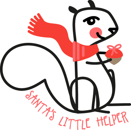Its almost winter and the little critter is busy laying in a stock for the cold weather!  Enjoy the small things in life with this adorable design on baby t-shirts, hats, bibs & more!