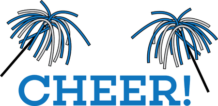 pep: Got spirit? Get fired up and ready to win with this charming cheerleader design on clothing, framed embroidery and more!