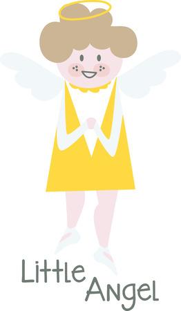 Brodez votre ange personnel pour les vacances, avec cet ensemble fantaisiste! Faites preuve de créativité sur vos projets avec cette conception sur des pulls, des sweatshirts et plus encore. Banque d'images - 61569571