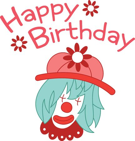 entertainer: This clown character is very popular with kids. Get this design filled with humor on a childs bedroom decor and other projects. Illustration
