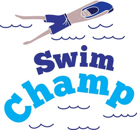 Looking for the perfect Birthday or Christmas gift? Embroider this design on clothes, towels, pillows, gym bags, quilts, t-shirts, jackets or wall hangings for your swimming enthusiasts!