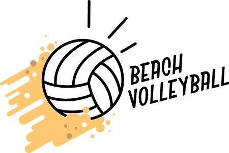 Make a perfect gift every time with this design on t-shirts, sweatshirts, jackets and more for volleyball fans of all ages! 向量圖像