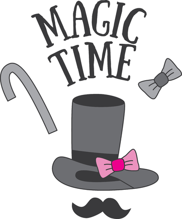 If your little ones love to dazzle you with their miraculous magic skills, this design is perfect on birthday party decorating ideas! Illustration