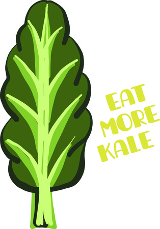 kale: Savor the flavors of everyday real food, fresh from the garden with this design on cozies, kitchen towels and more.