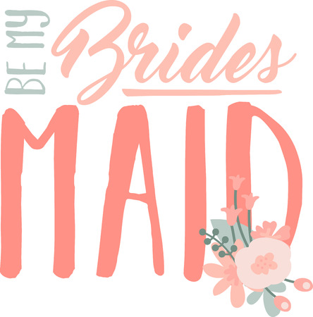 matrimony: Turn this simple design into a style statement.  The diamond ring will add sparkle to bridal shower projects.
