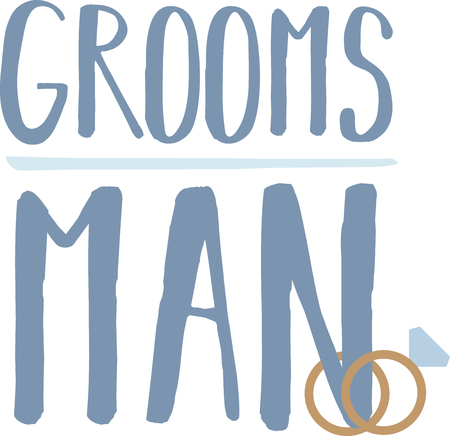 customize: Deck the groomsman out in style on the big day!  Customize gifts and accessories with this design on clothing, framed embroidery, throw pillows and more!