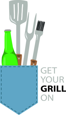 synonymous: Summertime is synonymous with grilling, parties and get-togethers.  This grilling inspired design will be perfect on towels, aprons, and shirts and gifts!