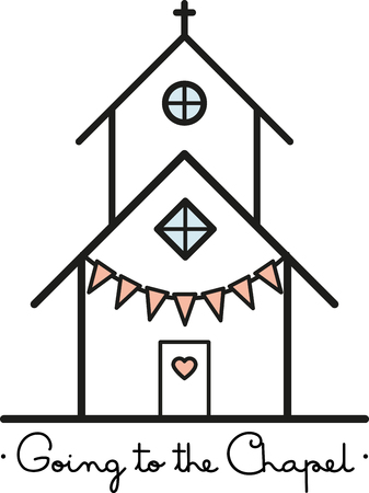 cathedrals: Toast to love! Time to celebrate with this perfect design on napkins and personalized gifts for the newlyweds! Illustration