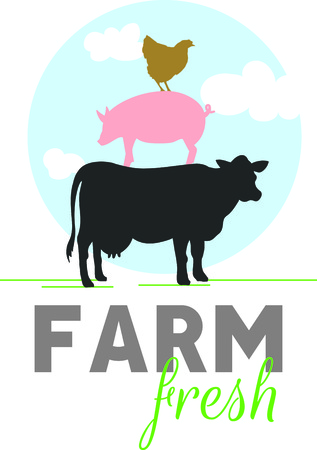 sow: Farm animals are an enduring theme for home decorating!  Add country charm with this design on flour sack towels, T-shirts, quilts, table linens and more!