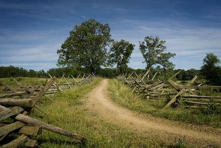 gettysburg battlefield: Road at Gettysburg Battlefield