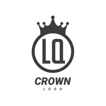 LQ Letter Logo Design with Circular Crown.