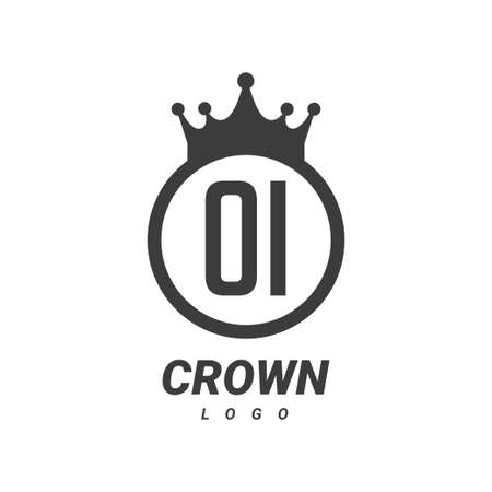 OI Letter Logo Design with Circular Crown.