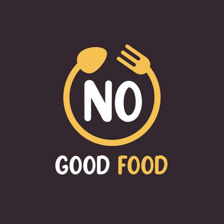 NO Letter Logo Design with Restaurant Concept. Modern Letter Logo Design with circular fork and spoon