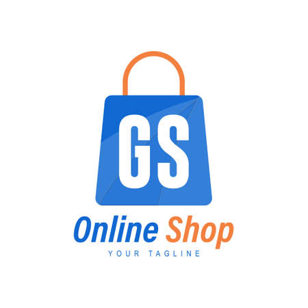 GS Letter Logo Design with Shopping Bag Icon. The concept of a modern online shopping logo Logó