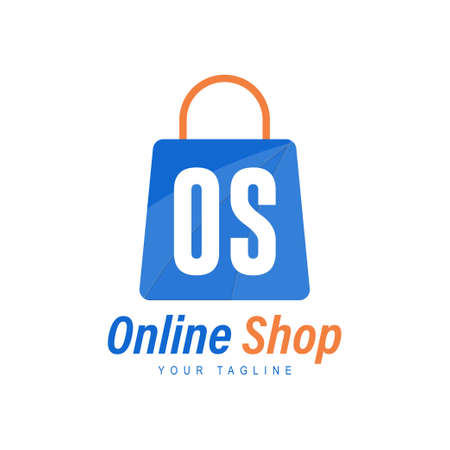 OS Letter Logo Design with Shopping Bag Icon. The concept of a modern online shopping logo Logó