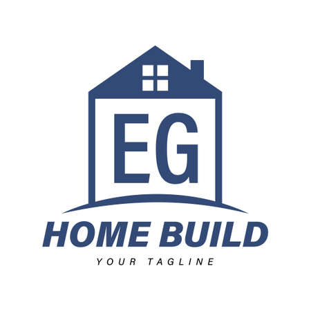 EG Letter Logo Design with Home Icons, Modern Housing or Building Logo Concepts Logó