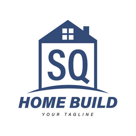 SQ Letter Logo Design with Home Icons, Modern Housing or Building Logo Concepts Logó