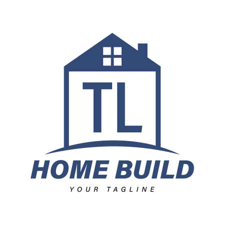 TL Letter Logo Design with Home Icons, Modern Housing or Building Logo Concepts Logó