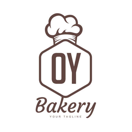 OY Letter Logo Design with Chef Icon, Bakery Logo Concept