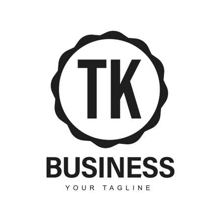TK Initial A Logo Design with Abstract Style