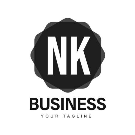 NK Initial A Logo Design with Abstract Style