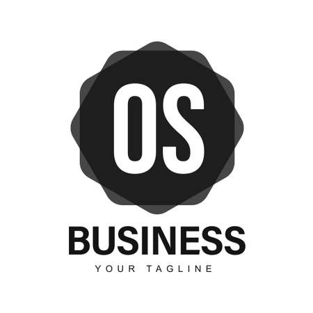 OS Initial A Logo Design with Abstract Style