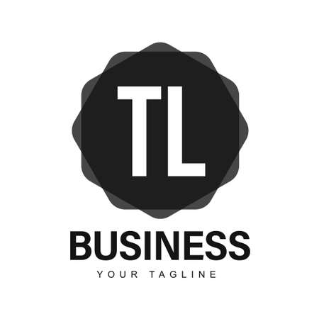 TL Initial A Logo Design with Abstract Style Logó