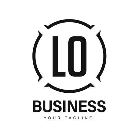 LO Initial A Logo Design with Abstract Style