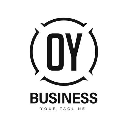 OY Initial A Logo Design with Abstract Style Ilustração