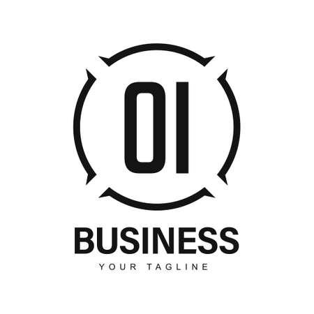 OI Initial A Logo Design with Abstract Style Ilustração