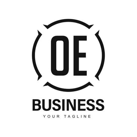 OE Initial A Logo Design with Abstract Style