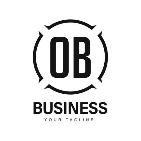 OB Initial A Logo Design with Abstract Style