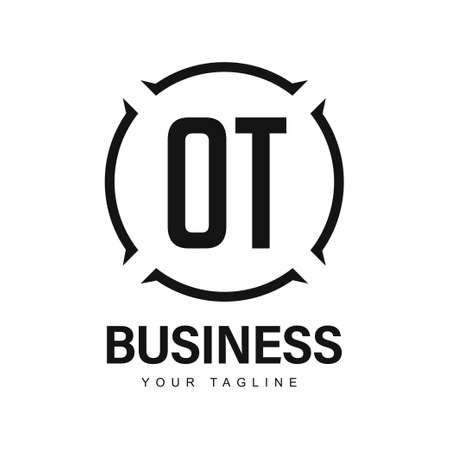 OT Initial A Logo Design with Abstract Style