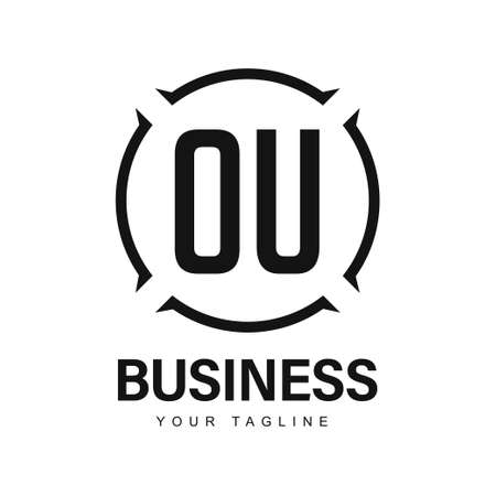 OU Initial A Logo Design with Abstract Style