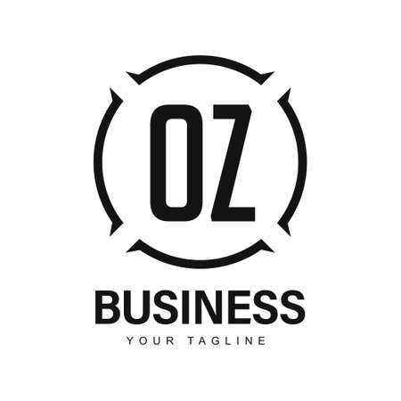 OZ Initial A Logo Design with Abstract Style