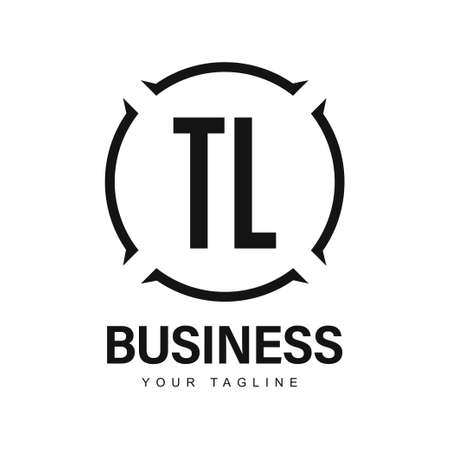 TL Initial A Logo Design with Abstract Style