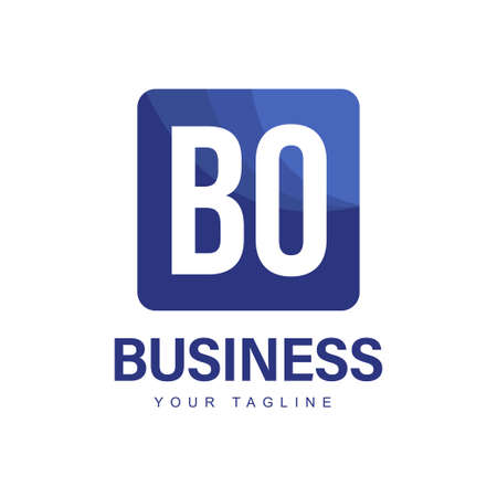 BO Initial A Logo Design with Abstract Style