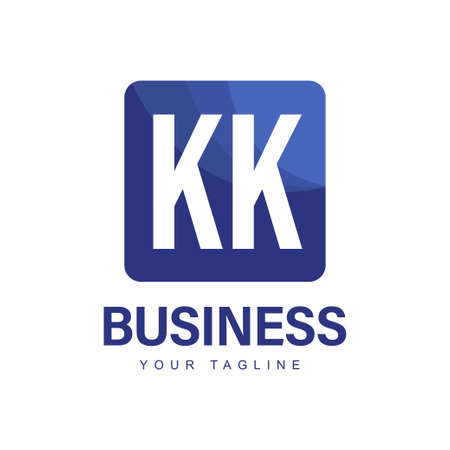KK Initial A Logo Design with Abstract Style