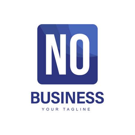 NO Initial A Logo Design with Abstract Style Ilustração
