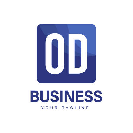 OD Initial A Logo Design with Abstract Style