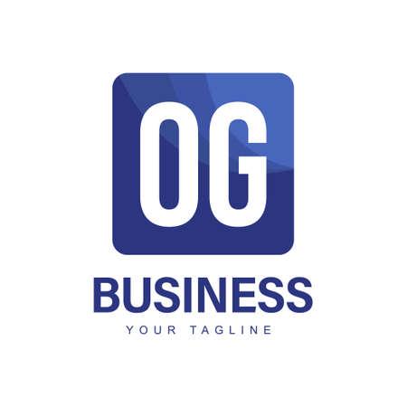 OG Initial A Logo Design with Abstract Style Ilustração