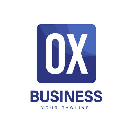 OX Initial A Logo Design with Abstract Style Ilustração