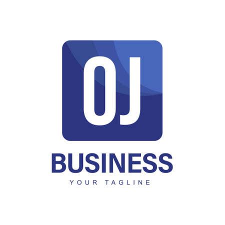 OJ Initial A Logo Design with Abstract Style Ilustração