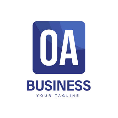 OA Initial A Logo Design with Abstract Style Ilustração