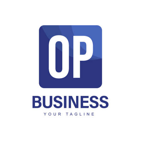 OP Initial A Logo Design with Abstract Style