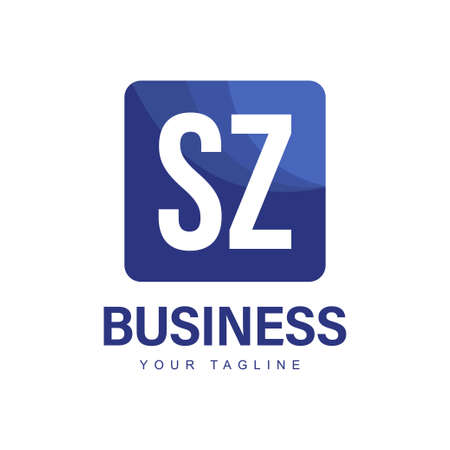 SZ Initial A Logo Design with Abstract Style Logó