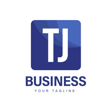 TJ Initial A Logo Design with Abstract Style