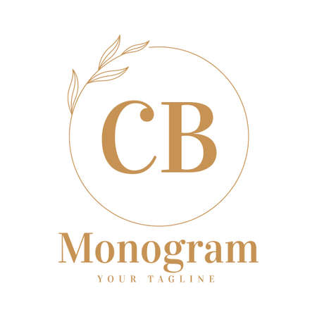 CB Initial A Logo Design with Feminine Style