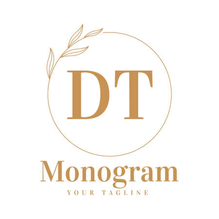 DT Initial A Logo Design with Feminine Style Logo