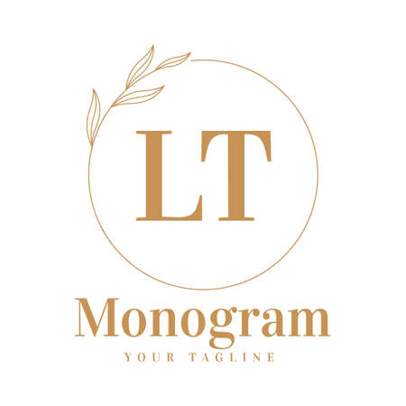 LT Initial A Logo Design with Feminine Style